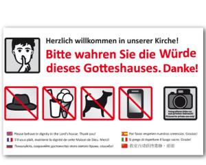 Grafikdesign Infotafel: Frauenkirche München