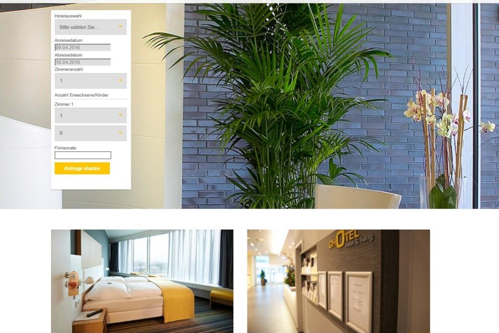 Internetseiten für Hotel gestaltet