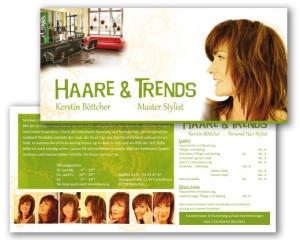 Grafikdesign Flyer: Haarstudio München