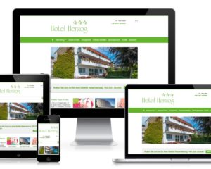 Website-Relaunch: Hotel Herzog, Hamm