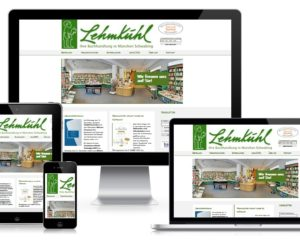 Webdesign: Buchhandlung Lehmkuhl, München