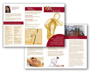 Grafikdesign Flyer: Physiotherapie Martin