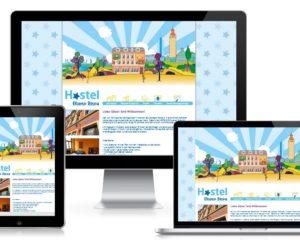Webdesign: Hostel Blauer Stern, Leipzig