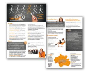 Grafikdesign Flyer und Kalender: Target