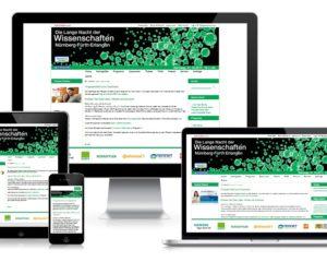 Programmierung Event-Website: Lange Nacht der Wissenschaften