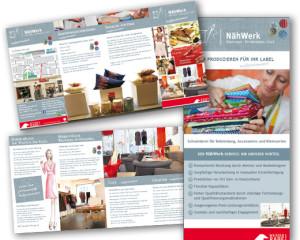 Grafikdesign: Weisser Rabe – Flyer, Faltblatt