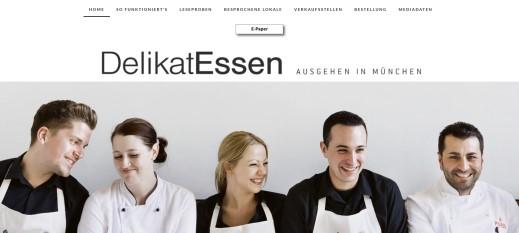 Online-Präsentation eines Gastromagazins mit Bestellmöglichkeit