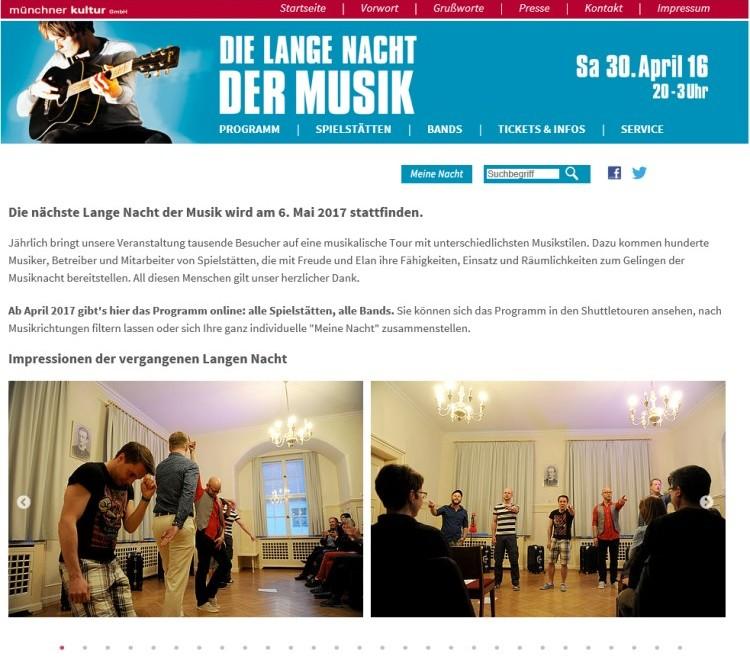 Web-Plattform für Großveranstaltung in München gestaltet