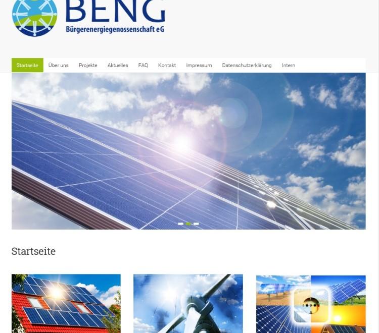 Internetauftritt für Bürgerenergiegenossenschaft mit neuem Design