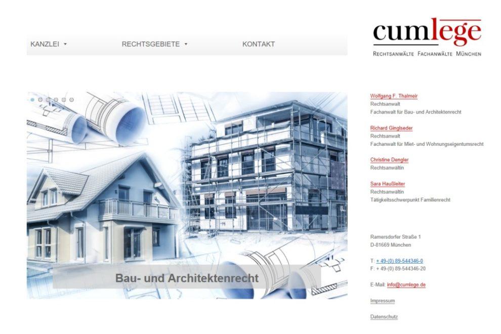 Neue Website für Rechtsanwälte, Fachanwälte München