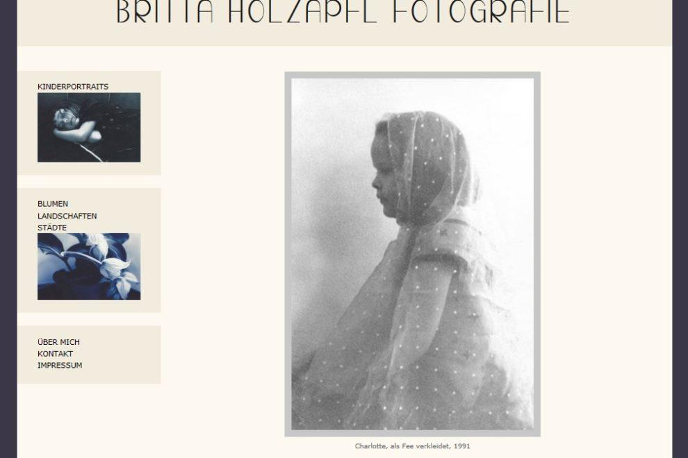 Schöne neue Internetseite für Fotografin