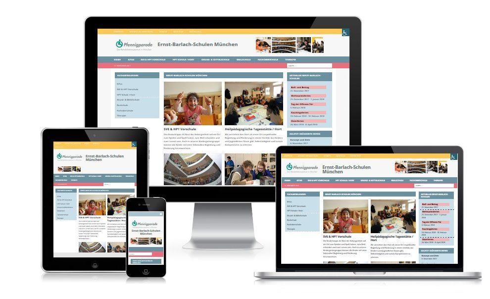 Internetauftritt für Münchner Schule