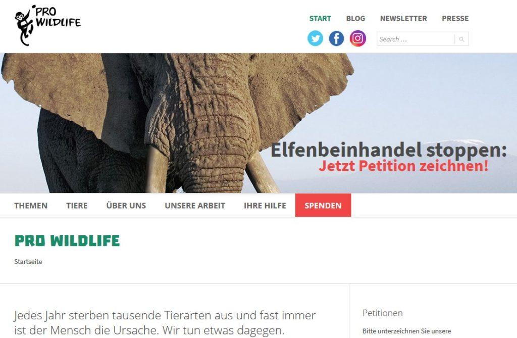 Neue Website für Prowildlife