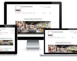 Webdesign mit Online Shop: Poster Galerie München